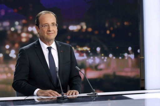 François Hollande dit merci à Laurence Ferrari