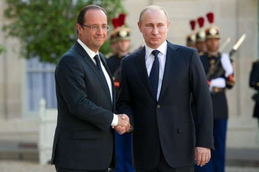 Syrie: Poutine en tournée en Europe craint une guerre civile
