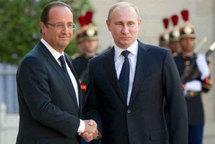 Syrie : échange cordial, mais franc désaccord entre Hollande et Poutine