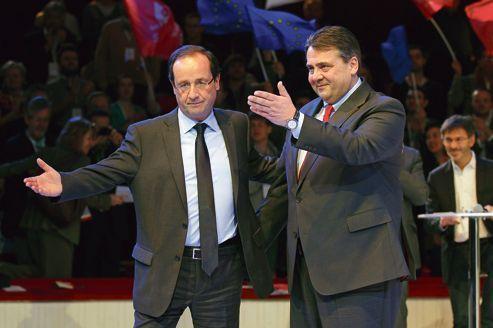Les chefs du SPD allemand reçus par Hollande