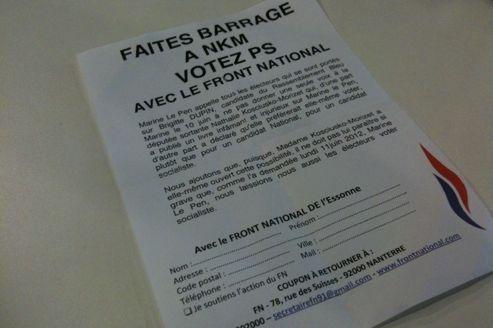 «Votez PS avec le FN» : le tract anti-NKM qui gêne