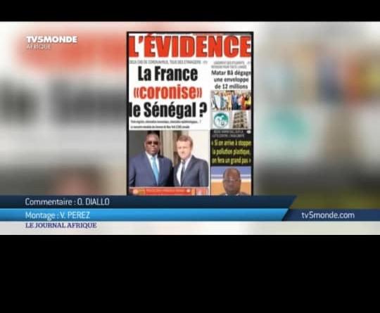 """La France """"coronise"""" le Sénégal: Quand TV5 reprend le quotidien """"L'Evidence"""""""