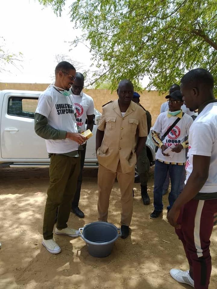 PHOTOS - Les jeunes de Louga lancent un campagne de sensibilisation de lutte contre la coronavirus