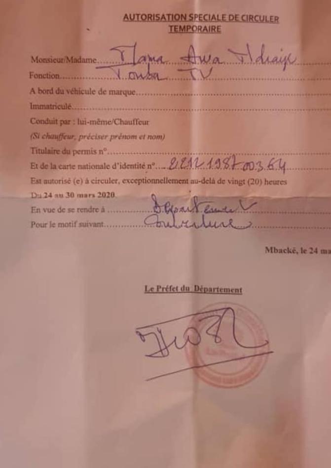 TOUBA/COUVRE-FEU: Une journaliste et son caméraman tabassés