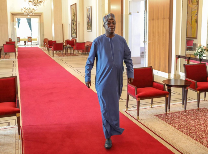 (PHOTOS): Souleymane Ndéné Ndiaye, ancien Premier ministre, reçu en audience par le président de la République Macky Sall