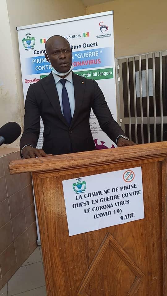 (PHOTOS)- Riposte contre la covid 19 : La municipalité de Pikine Ouest débloque 50 millions de FCfa