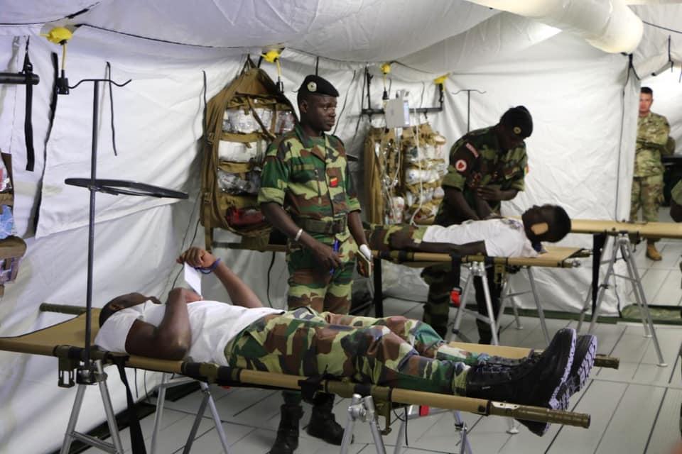 En octobre 2019, les États-Unis ont offert deux hôpitaux de campagne déployables