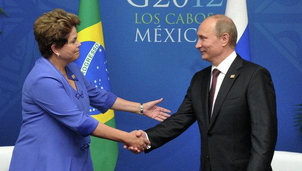 G20: Poutine rencontre la présidente brésilienne Dilma Rousseff