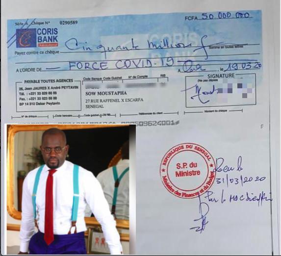 Le jeune consultant en Finances Moustapha Sow dégaine 50 millions FCfa contre le Covid-19