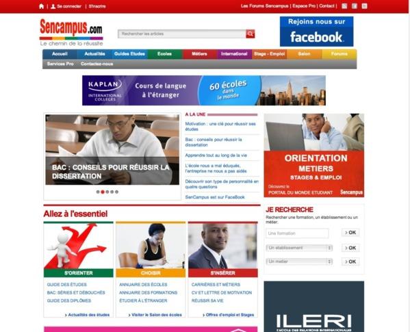 Un nouveau portail web pour réussir ses études et préparer son avenir!