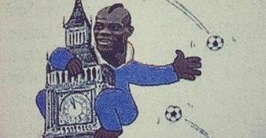 Euro 2012 : Balotelli caricaturé en King Kong