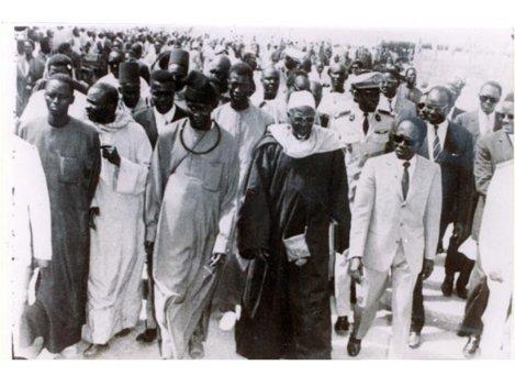 Sergine Abdou Lakhat Mbacké et le président Senghor