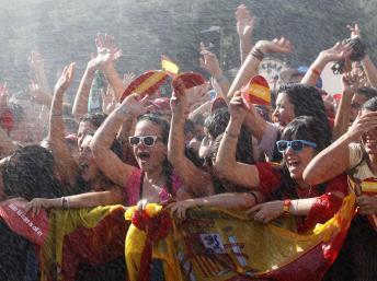 En Espagne, les joueurs de «la Roja» accueillis en héros à Madrid