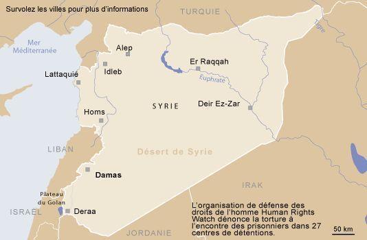 """La Syrie ou l'""""Archipel de la torture"""", selon HRW"""