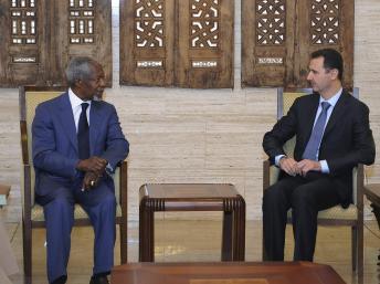 Syrie : Kofi Annan et Bachar el-Assad d'accord sur une «approche» de sortie de crise