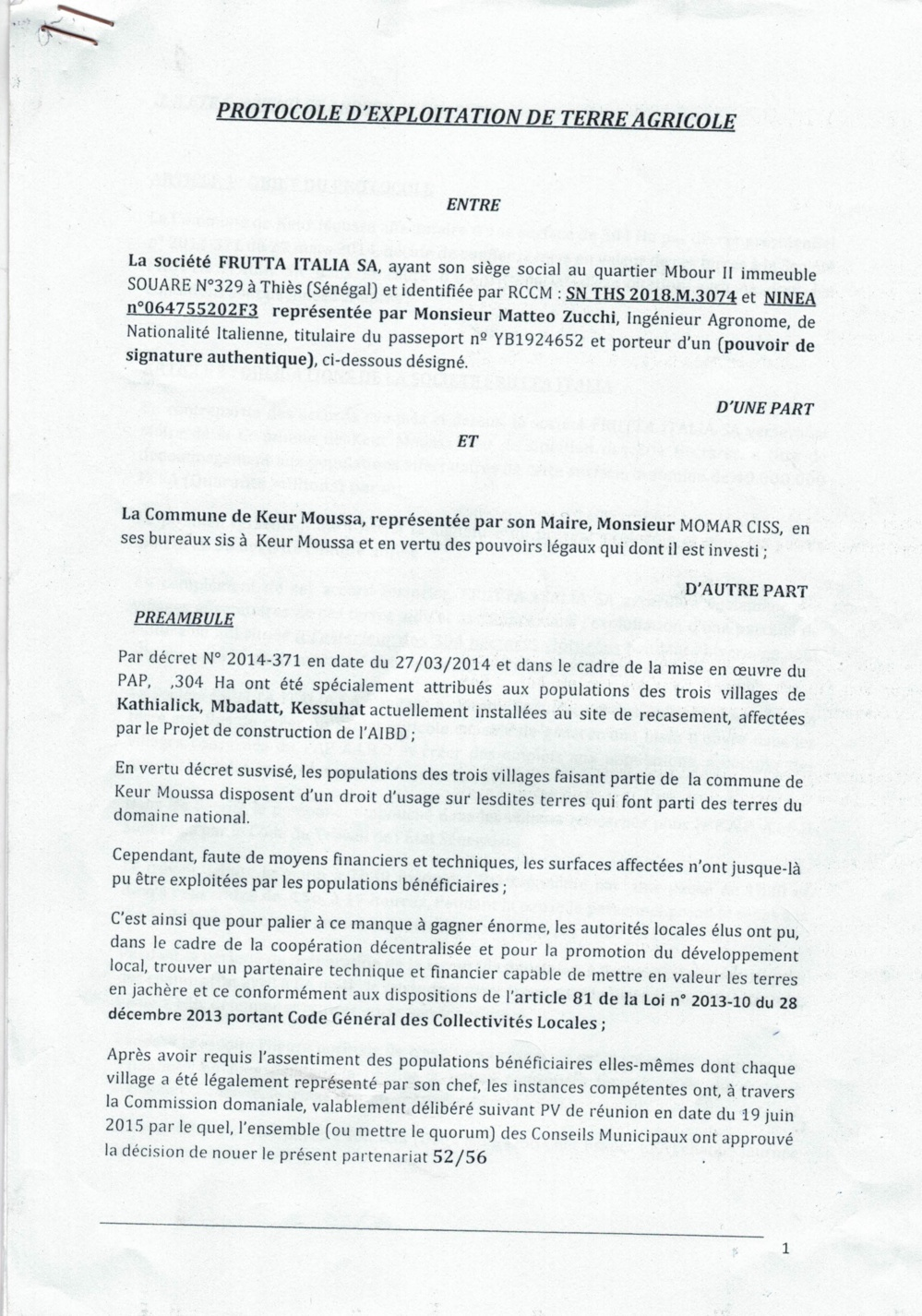 Scandale foncier à Keur Moussa / Les impactés de l'AIBD dépossédés de leurs terres: Le Maire Momar Ciss accusé d'occuper la centralité du litige