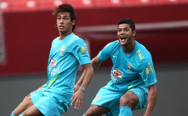 JO : Hulk et Neymar déjà en pleine forme !