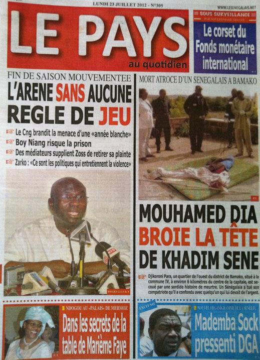 Revue de presse du 23 Juillet