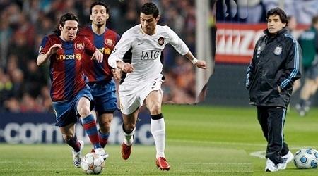 "Football - ""Ronaldo n'égalera jamais Messi"", selon Maradona"