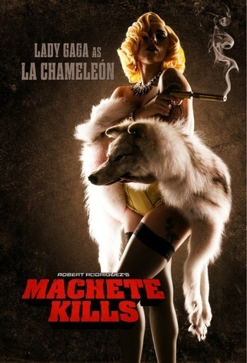 "Photo : Lady Gaga est La Chameleón de ""Machete Kills"""