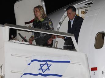 Mitt Romney en Israël pour afficher ses convergences de vue
