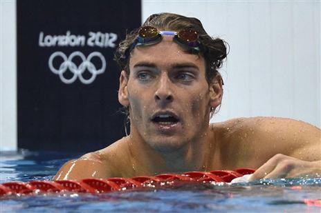 JO 2012-100m dos (M): Lacourt au pied du podium