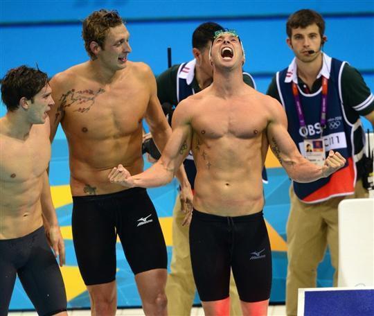 JO 2012: le Français Yannick Agnel médaille d'or sur 200m nage libre