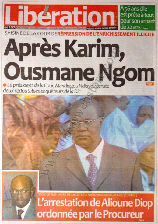 A la Une du Journal Libération du 04 Août