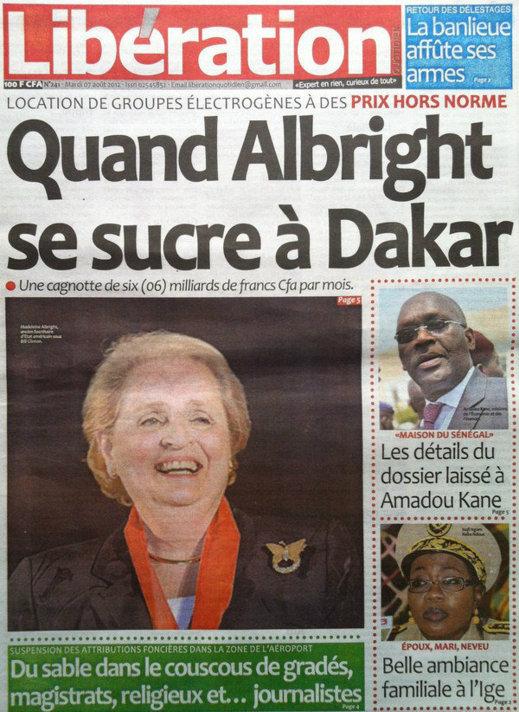 A la Une du Journal Libération du 07 Août