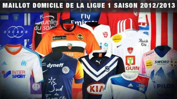 Ligue 1 : zoom sur les nouveaux maillots domicile 2012-2013