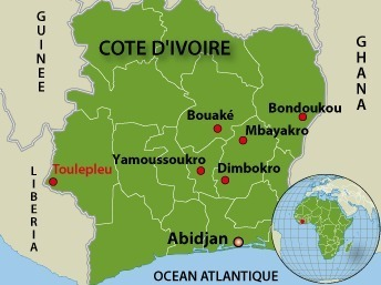 Des réfugiés ivoiriens continuent d'arriver au Liberia après les combats de lundi à Toulepleu