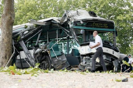 A10 : 22 blessés dans un accident de bus
