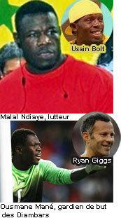 Malal Ndiaye et Ousmane Mané impressionnés d'avoir rencontré Usain Bolt