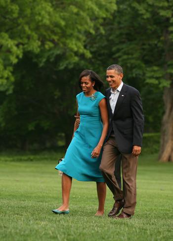 Michelle Obama trouve George Clooney mignon