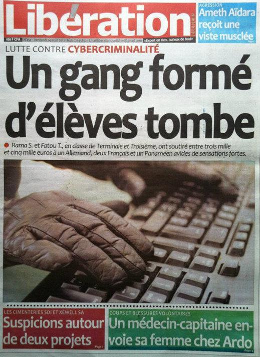 A la Une du Journal Libération du 24 Août