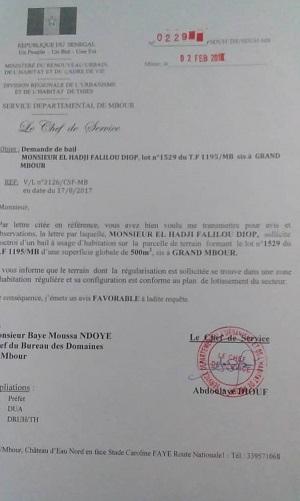 Deux poids, deux mesures pour un problème foncier: la politique penche-t-elle du côté de Me Assane Dioma Ndiaye ?