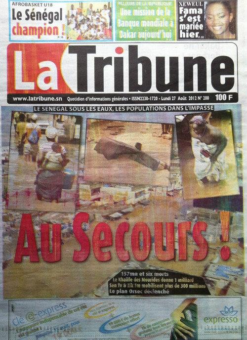 A la Une du Journal La Tribune du 27 Août