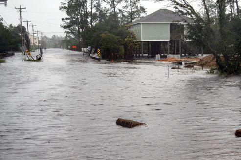 Les côtes de la Louisiane atteintes par l'ouragan Isaac
