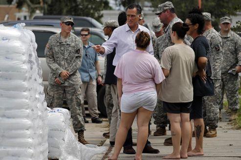Isaac: Romney devance Obama au chevet de la Louisiane