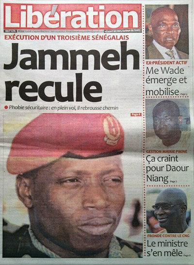 A la Une du Journal Libération du 03 Septembre