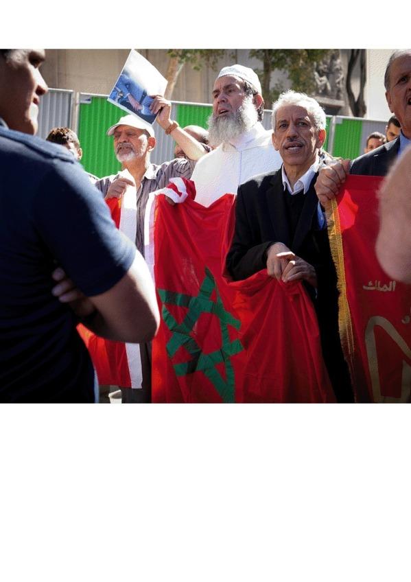Maroc : cris et chuchotements au Trocadéro à Paris