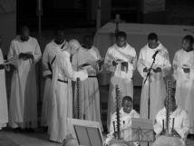 Remise de la croix de la légion d'honneur française aux moines  de Keur Moussa