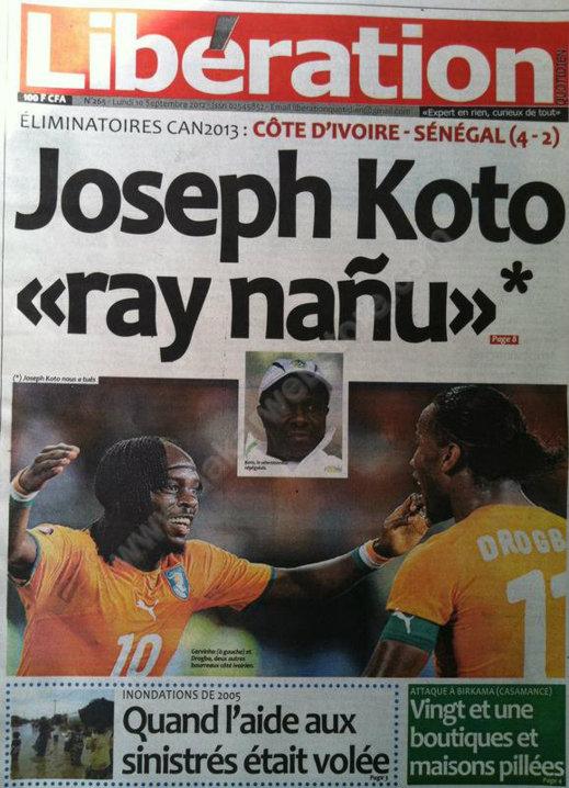 A la Une du Journal Libération du 10 Septembre