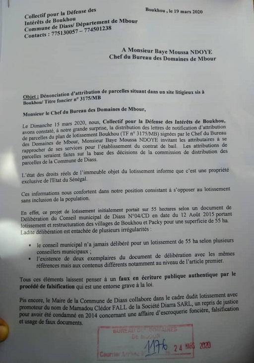 Pillage organisé de la forêt classée de Diass: Le Chef du Bureau des Domaines de Mbour, Baye Moussa Ndoye, impliqué
