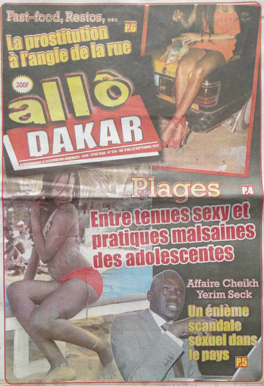 A la Une du Journal Allô Dakar du 17 Septembre