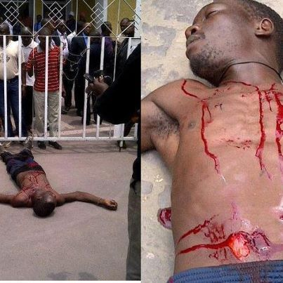 Comment le vendeur de Kinshasa s'est ouvert le ventre