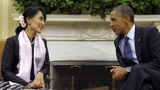 Barack Obama a reçu Aung San Suu Kyi