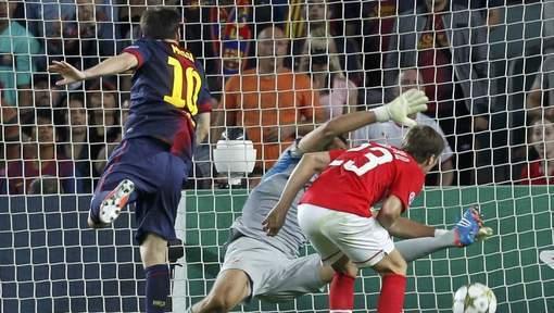 Lionel Messi sait aussi marquer de la tête