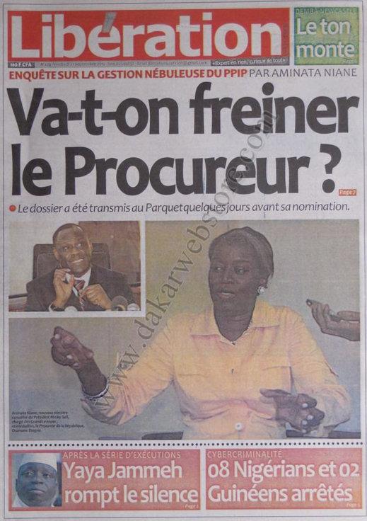 A la Une du Journal Libération du 21 Septembre