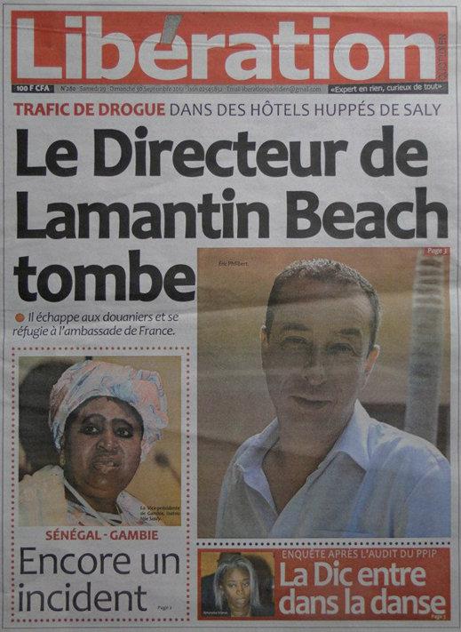 A la Une du Journal Libération du 29 Septembre